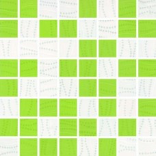 Mozaika Manhattan Green/White 25x25 g.I