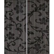 Crypton Glam Black dekor 25x60 (2szt-1kpl)